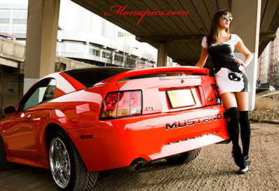 Nadia-mustang-shoot-glasgow